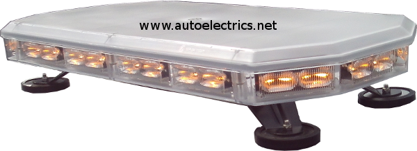 600mm lightbar clear lens amberlights